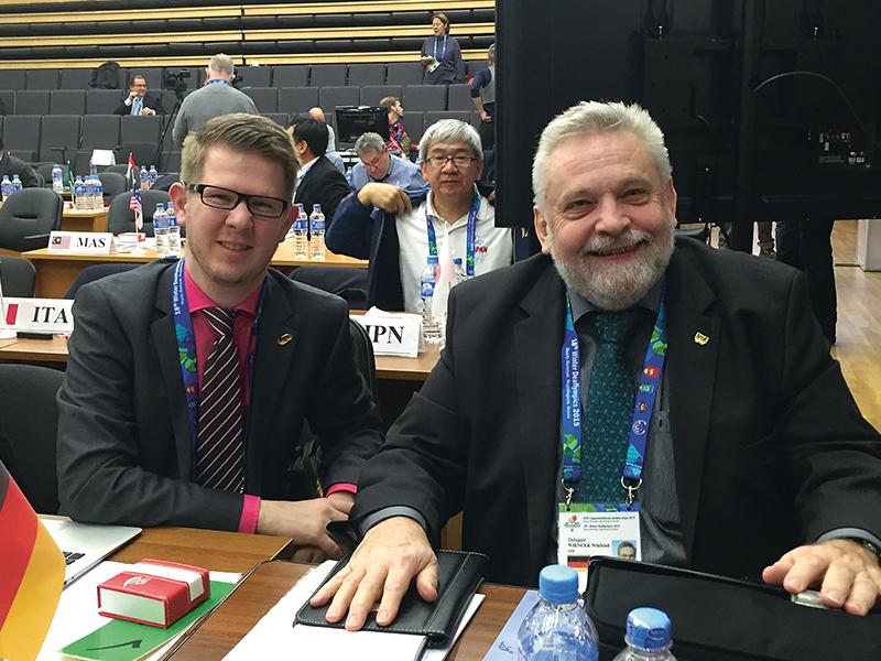 Standen im Zentrum der Kritik: Der ehemalige Vizepräsident für Leistungssport Andreas Mühlbauer-Füll (links) und der DGS-Präsident Winfried Wiencek