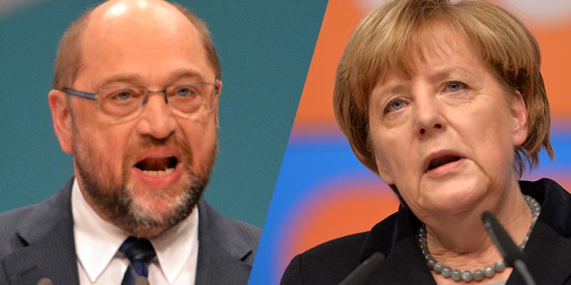 TV-Duell zwischen Merkel und Schulz mit Untertiteln und Gebärdensprachdolmetschern